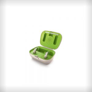 The Phonak Charger Case Combi on a white background