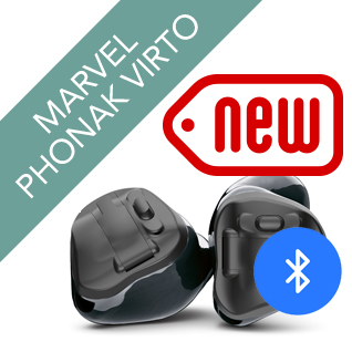 Phonak Virto Marvel 312 Black Hearing Aid